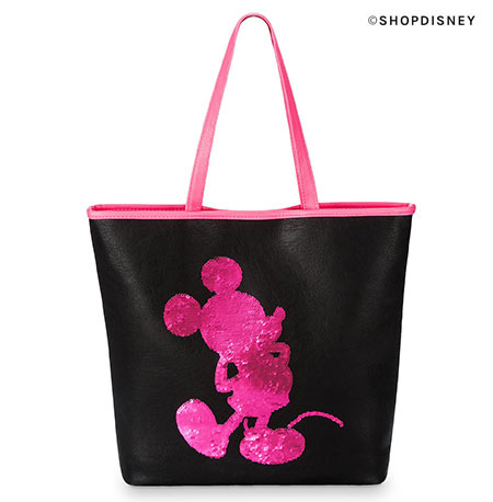 Imagination Pink Sequin Loungefly Tote | Mouse Memos Disney Blog