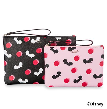 Mickey Mouse Ear Hat Disney Parks Pink Kate Spade Pouch Duo | Mouse Memos Disney Blog