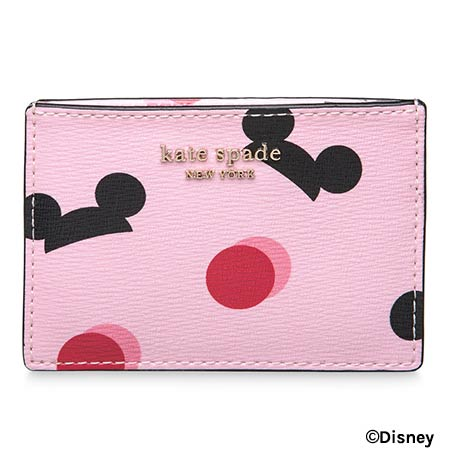 Mickey Mouse Ear Hat Disney Parks Pink Kate Spade Credit Card Case | Mouse Memos Disney Blog