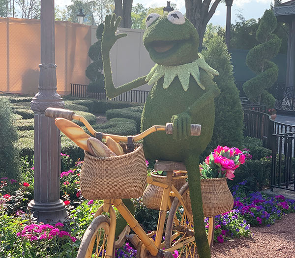 Kermit Topiary 2019 Epcot Flower and Garden Festival Topiaries | Mouse Memos Disney Blog