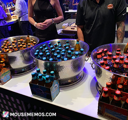 Kona Brewing Company's Selection of Beers. The Kona Big Wave, The Kona Hanalei IPA and Kona Longboard at Party for the Senses Epcot Food and Wine Festival | Mouse Memos Disney Blog