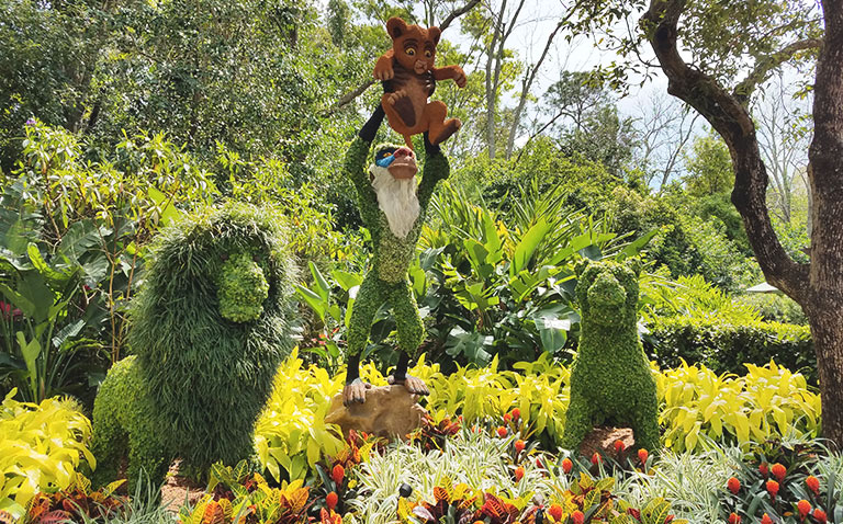 Lion King Topiary 2019 Epcot Flower and Garden Festival Topiaries | Mouse Memos Disney Blog