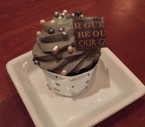 The Master's Cupcake at the Be Our Guest Restaurant   Mouse Memos Disney Blog