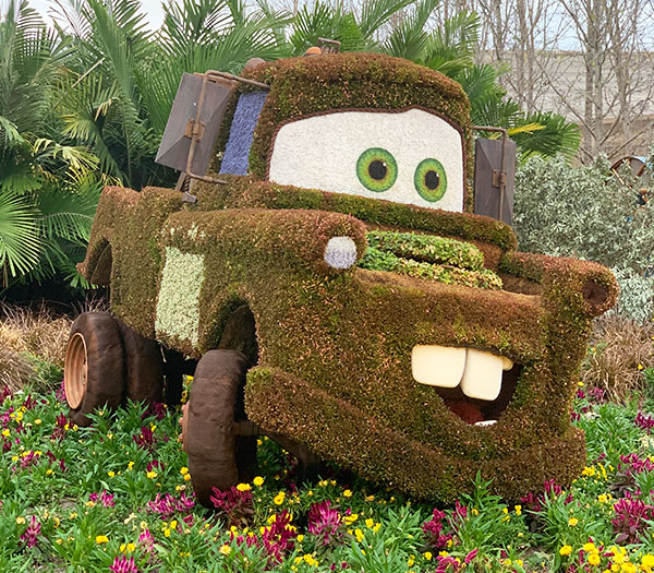 Mater Topiary 2019 Epcot Flower and Garden Festival Topiaries | Mouse Memos Disney Blog
