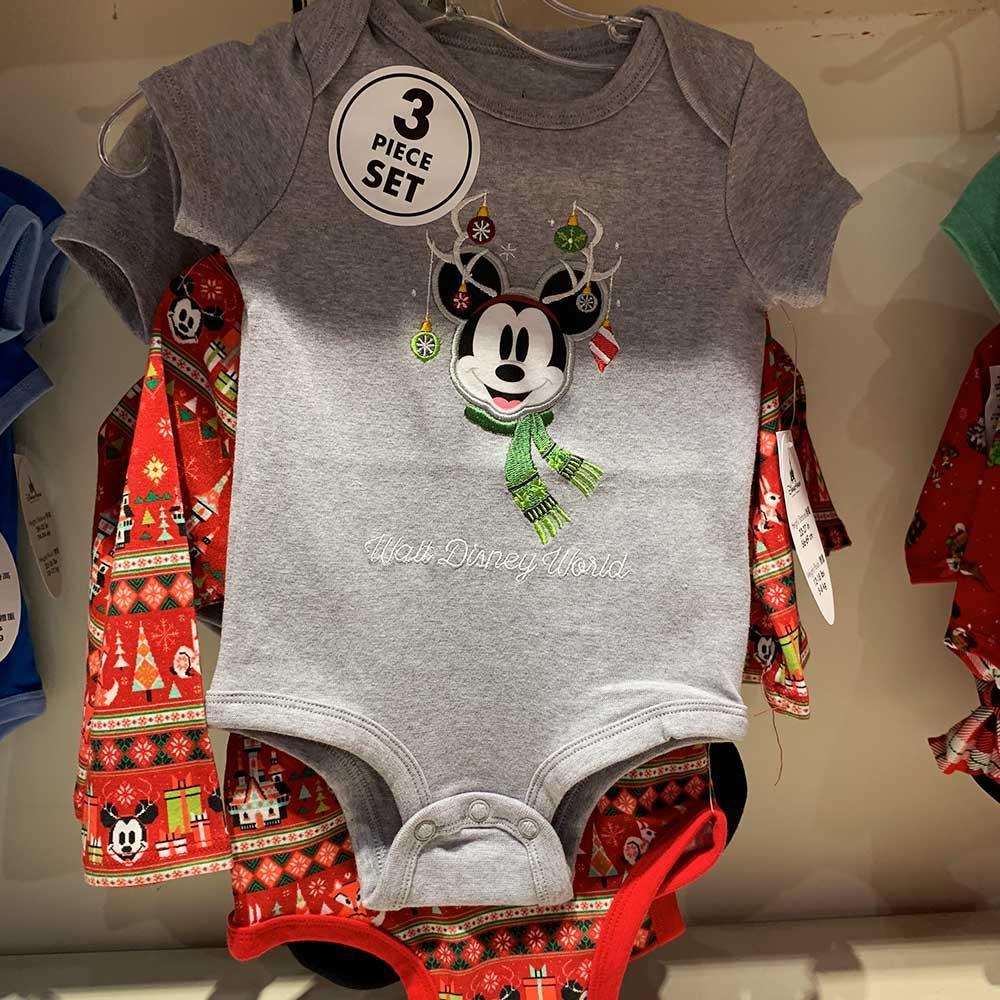 Mickey Mouse Childrens Onesie 3 Piece Set 2018 Disney Christmas Apparel | Mouse Memos Disney Blog
