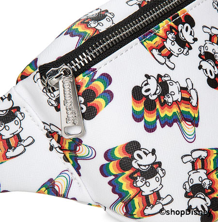 Mickey Mouse Rainbow Collection by Loungefly: Hip Pack Detail | Mouse Memos Disney Blog