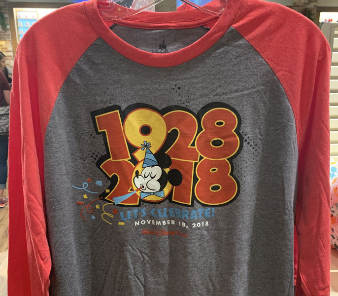 Mickeys 90th Birthday Long Sleeve T Shirt