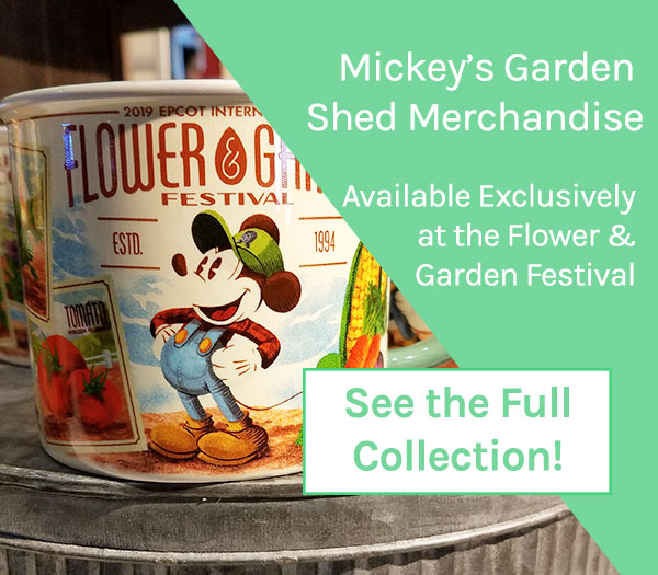 Mickey's Garden Shed Merchandise 2019 Epcot Flower and Garden Festival | Mouse Memos Disney Blog