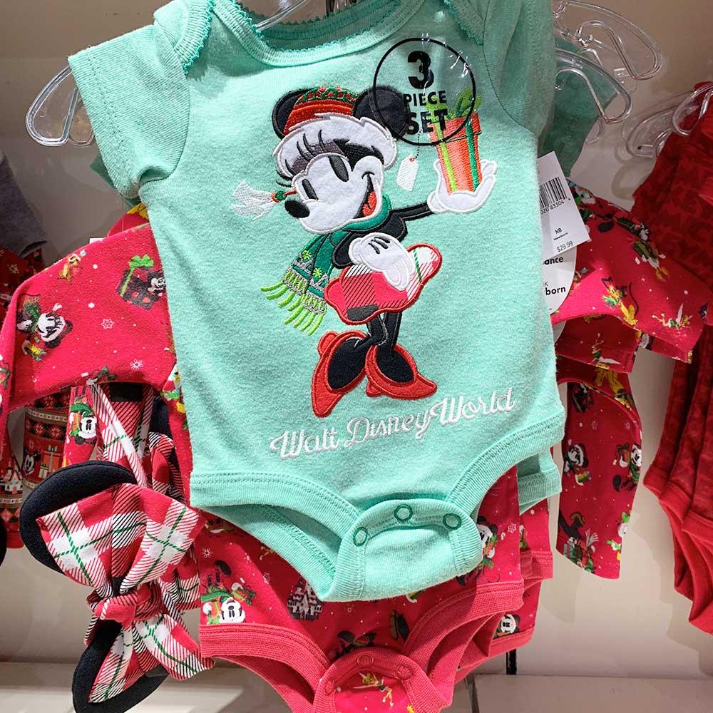 Minnie Mouse Childrens Onesie 3 Piece Set 2018 Disney Christmas Apparel | Mouse Memos Disney Blog