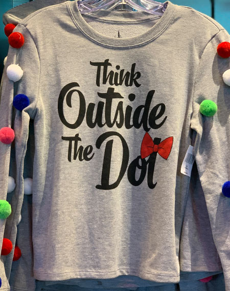 Minnie Mouse Rock the Dots Collection Think Outside the Dot Long Sleeve Shirt | Mouse Memos Disney Blog