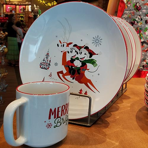 2018 Disney Parks Christmas Home Decor Dinner Plates Mouse Memos Blog