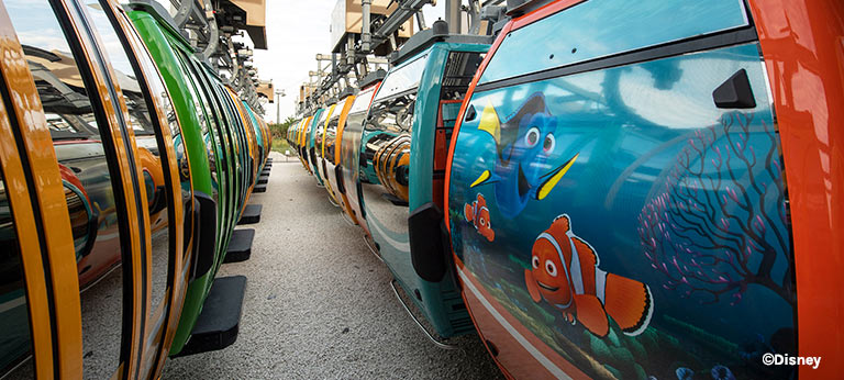 New Disney Skyliner Finding Nemo Gondolas | Mouse Memos Disney Blog