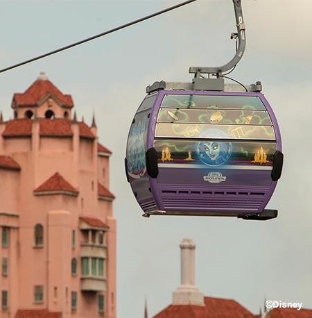 New Disney Skyliner Haunted Mansion Gondolas | Mouse Memos Disney Blog