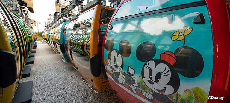 New Disney Skyliner Mickey & Minnie Mouse Gondolas | Mouse Memos Disney Blog