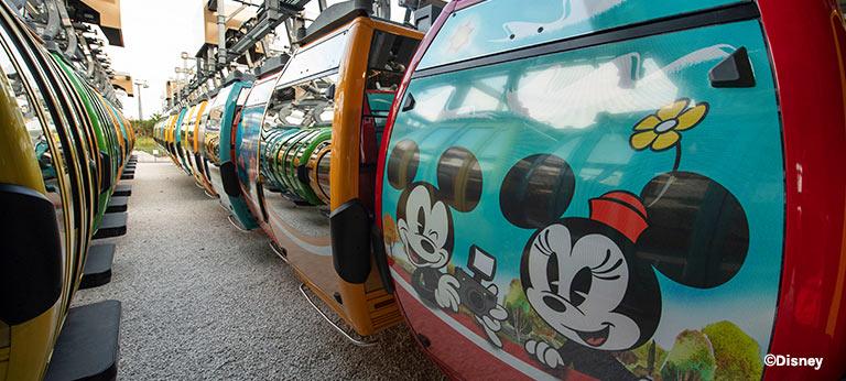 New Disney Skyliner Mickey & Minnie Mouse Gondolas | Mouse Memos Disney Blog