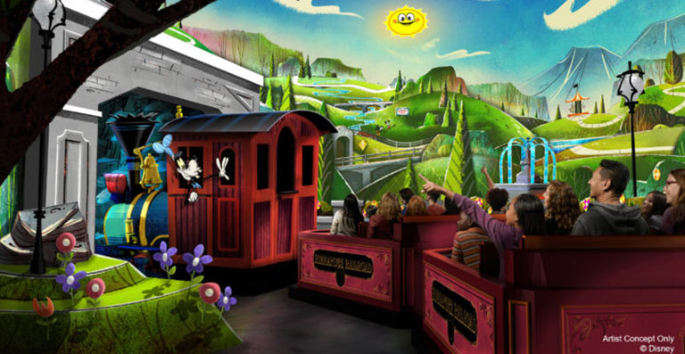 New Info on Mickey & Minnie's Runaway Railway Ride: Artist Concept of Ride | Mouse Memos Disney Blog