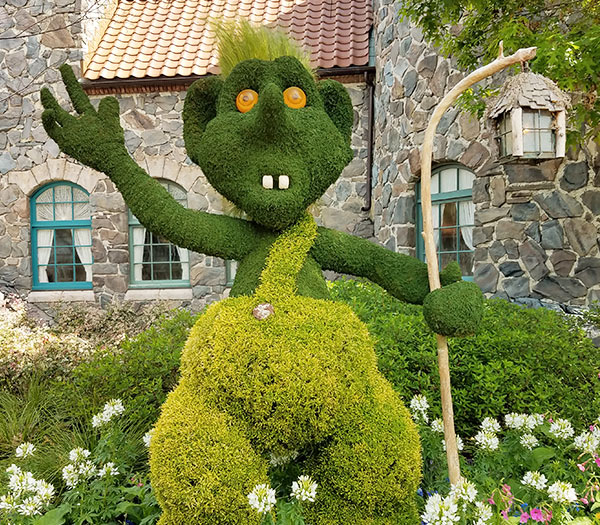 Norway Goblin Topiary 2019 Epcot Flower and Garden Festival Topiaries | Mouse Memos Disney Blog