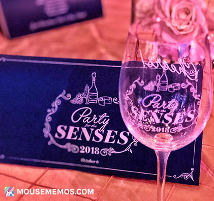 Party for the Senses 2018 Event Menu & Souvenir Wine Glass | Mouse Memos Disney Blog Epcot International Food and Wine Festival