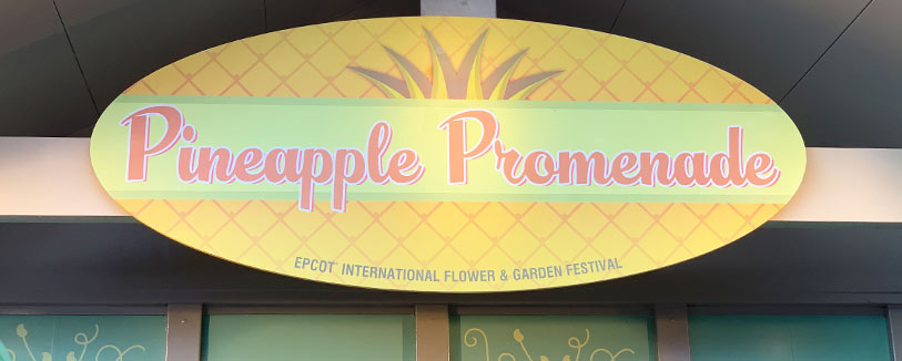 Pineapple Promenade Menu 2019 Epcot International Flower and Garden Festival | Mouse Memos Disney Blog