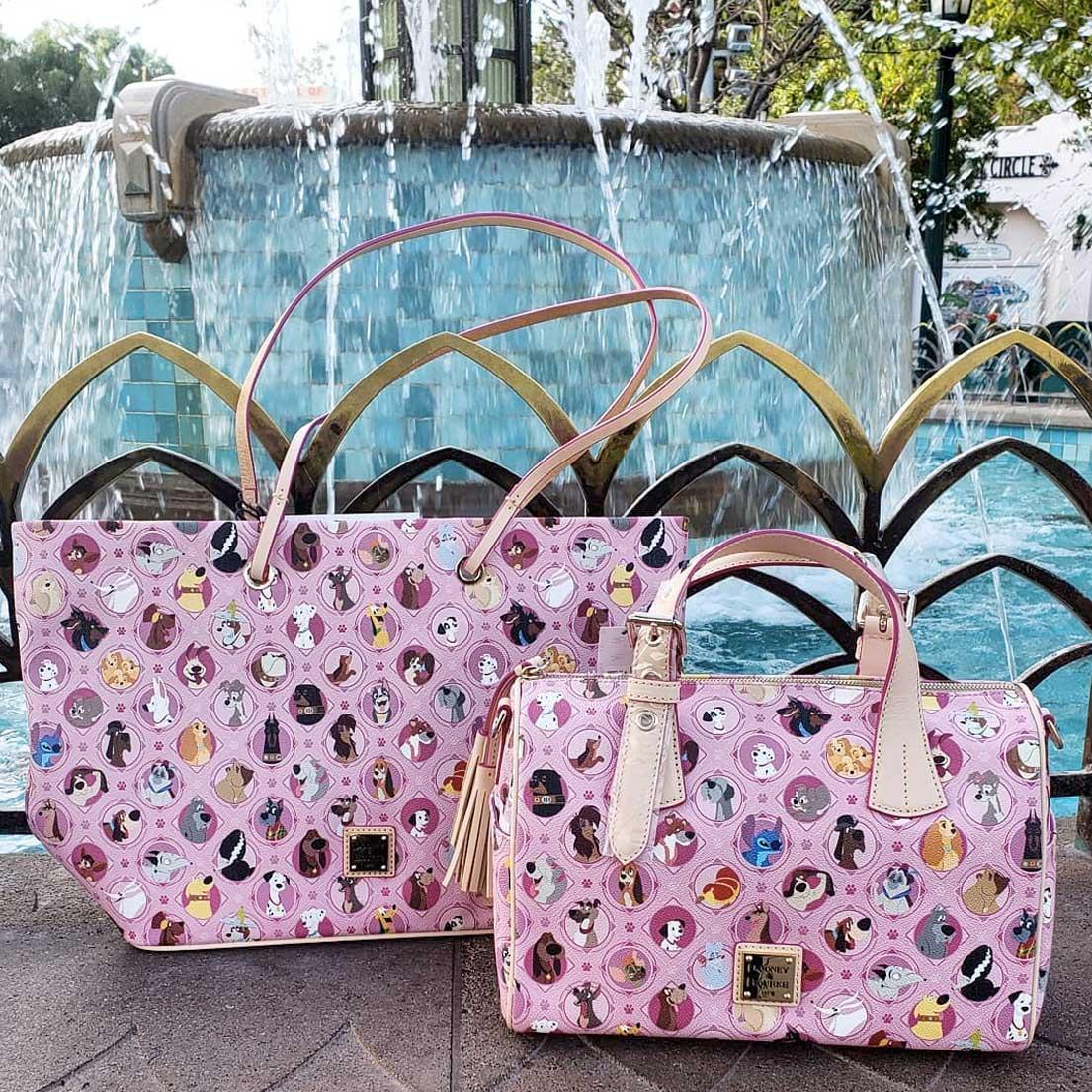 Pink Disney Dogs by Dooney & Bourke Shoulder Bag & Tote Bag | Mouse Memos Disney Blog