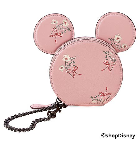 Disney x COACH Minnie Mouse Florals Collection Pink Coin Purse | Mouse Memos Disney Blog