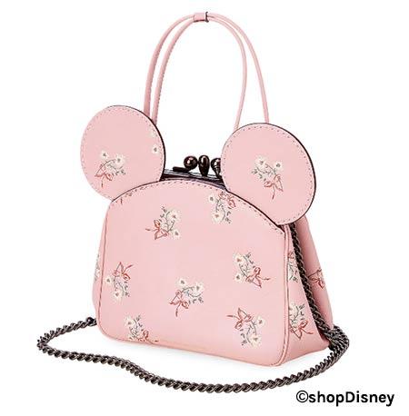 Disney x COACH Minnie Mouse Florals Collection Pink Kisslock Leather Bag | Mouse Memos Disney Blog