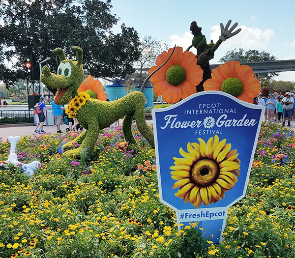 Pluto Topiary 2019 Epcot Flower and Garden Festival Topiaries | Mouse Memos Disney Blog