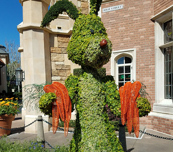 Rabbit Topiary 2019 Epcot Flower and Garden Festival Topiaries | Mouse Memos Disney Blog