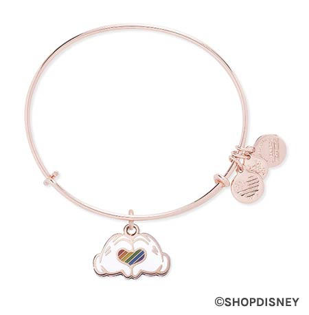 Rainbow Disney Collection Mickey Mouse Heart Hands Alex & Ani Bracelet | Mouse Memos Disney Blog