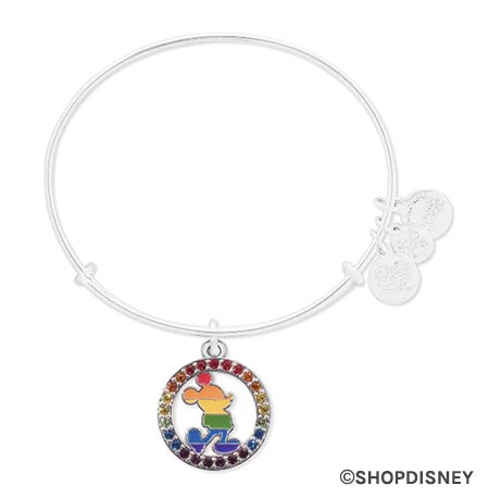 Rainbow Disney Collection Mickey Mouse Pride Alex & Ani Bracelet | Mouse Memos Disney Blog