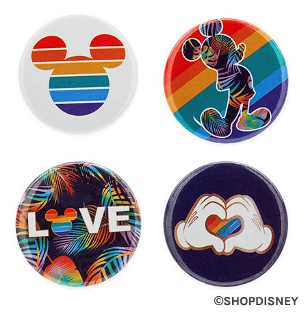 Rainbow Disney Collection Mickey Mouse Button Set | Mouse Memos Disney Blog