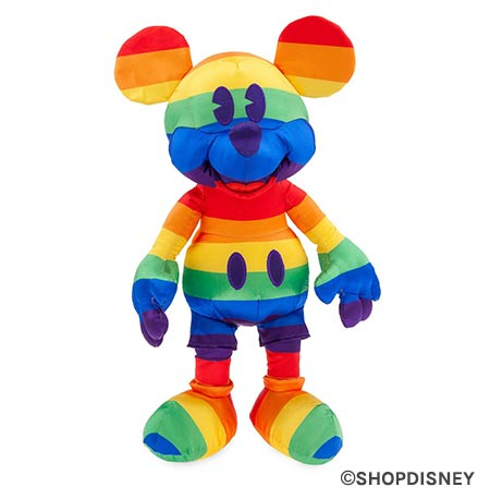 Rainbow Disney Collection Plush Mickey Mouse | Mouse Memos Disney Blog