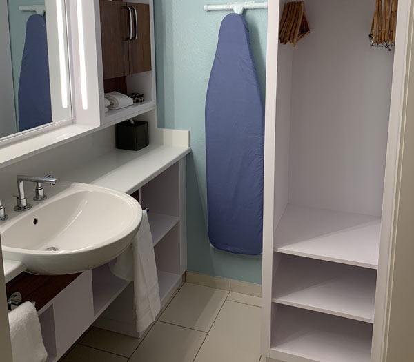 Refurbished Bathroom at Disney's Pop Century Resort | Mouse Memos Disney Blog