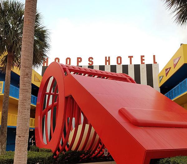 Hoops Hotel Disney's All Star Sports Resort | Mouse Memos Disney Blog