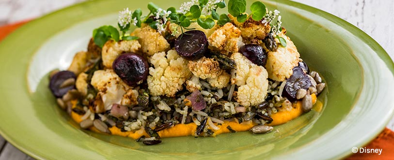 Roasted Cauliflower with Wild Rice: 2019 Epcot International Flower and Garden Festival | Mouse Memos Disney Blog