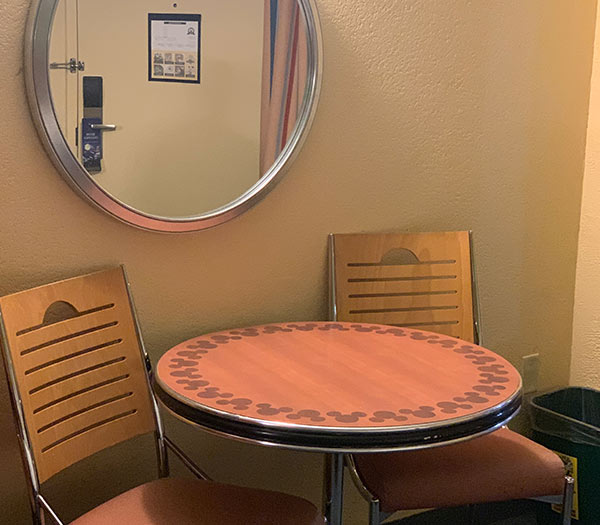 Room Seating at Disney's All Star Sports Resort | Mouse Memos Disney Blog