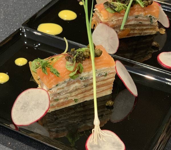 Smoked Salmon and Cream Gâteau at The Painter's Palate 2019 Epcot International Festival of the Arts | Mouse Memos Disney Blog