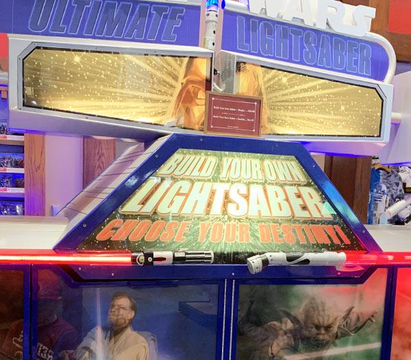 Star Wars Merchandise at Walt Disney World Resort: Build Your Own Lightsaber | Mouse Memos Disney Blog
