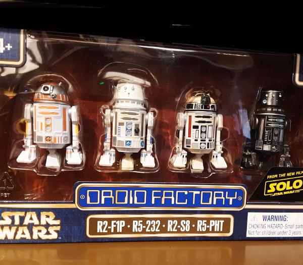 Star Wars Merchandise at Walt Disney World Resort: Droid Factory Figures | Mouse Memos Disney Blog