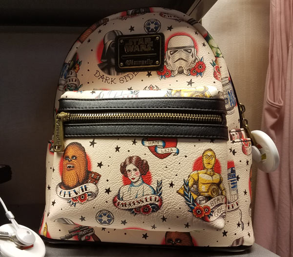 Star Wars Merchandise at Walt Disney World Resort: Loungefly Backpack | Mouse Memos Disney Blog