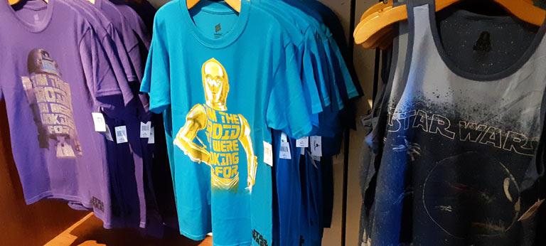 Star Wars Merchandise at Walt Disney World Resort: Men's Shirts | Mouse Memos Disney Blog