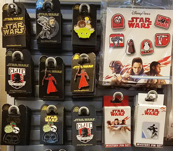 Star Wars Merchandise at Walt Disney World Resort: Star Wars Pins | Mouse Memos Disney Blog