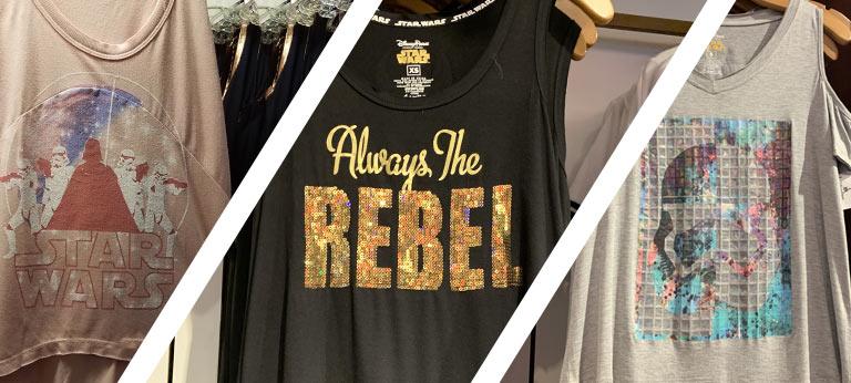 Star Wars Merchandise at Walt Disney World Resort: Star Wars Womans Tanks | Mouse Memos Disney Blog