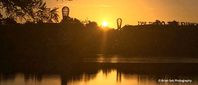 Sunset at Disney's Pop Century Resort | Mouse Memos Disney Blog