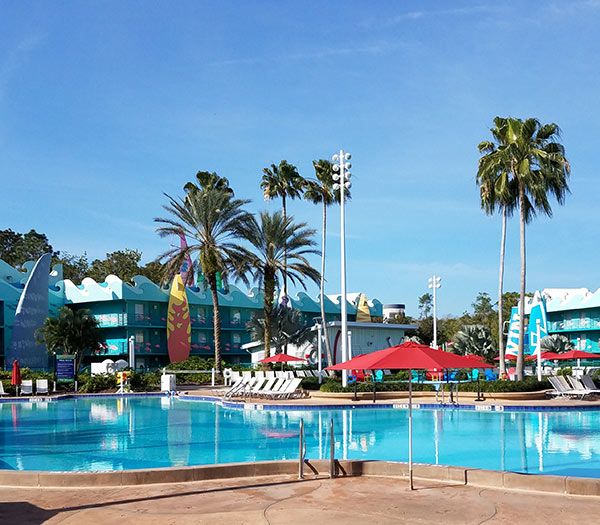Surfboard Pool at Disney's All Star Sports Resort | Mouse Memos Disney Blog