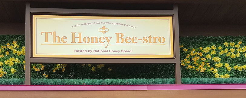 The Honey Beestro Menu 2019 Epcot International Flower and Garden Festival | Mouse Memos Disney Blog