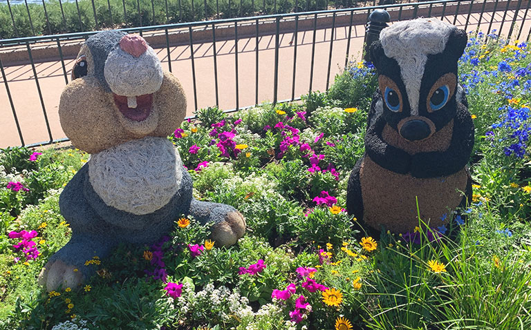 Thumper and Flower Topiary 2019 Epcot Flower and Garden Festival Topiaries | Mouse Memos Disney Blog
