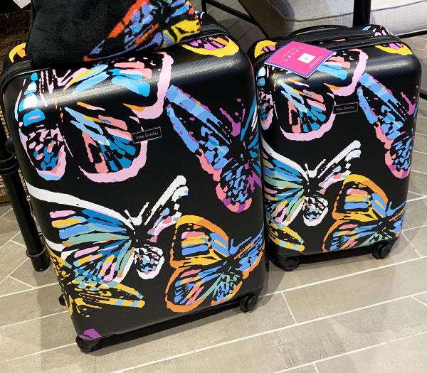 Vera Bradley at Disney Springs Butterfly Rolling Luggage | Mouse Memos Disney Blog