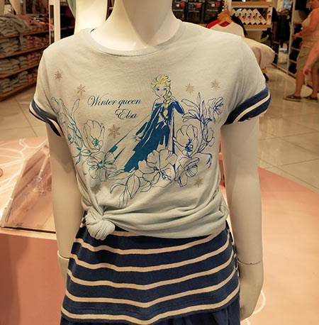 Winter Queen Elsa Girls T-Shirt from UNIQLO at Disney Springs | Mouse Memos Disney Blog